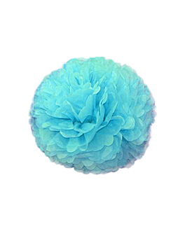 pom pom flower Ø 35 cm azul (10 unid.)