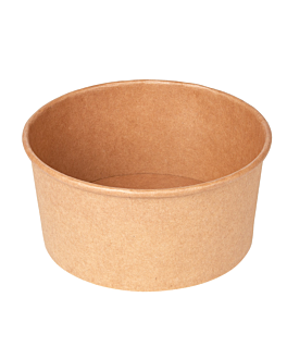 salad bowls 750 ml 320 + 18 pe gsm Ø 14,5/12,5x7 cm natural kraft (500 unit)