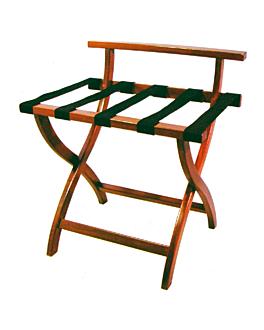 reggivaligie pieghevole con sponda 60x45x67 cm noce legno (1 unitÀ)