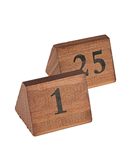tabletop numbers from 1 to 25 5,8x4,6x4,2 cm wood (1 unit)