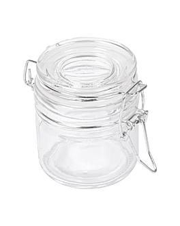 tarro para aperitivos 80 ml Ø 6x7 cm transparente cristal (48 unid.)