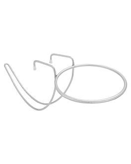 soporte mesa para champaÑera 52,5x20,5x23 cm plateado alambre (1 unid.)
