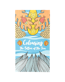 """colouring pads """"bottom of the sea"""" 100 gsm 12,5x22 cm four coloured cellulose (100 unit)"""