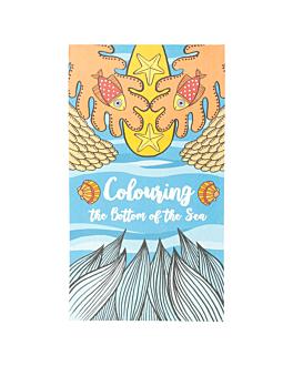 """cuadernos colorear """"fondo del mar"""" 100 g/m2 12,5x22 cm cuatricromÍa celulosa (100 unid.)"""