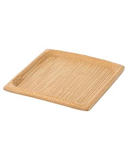 mini assiettes 6x6 cm naturel bambou (24 unitÉ)