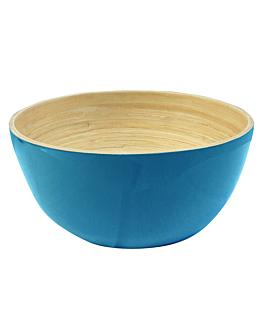 bowls Ø 15x7 cm turquoise bamboo (60 unit)