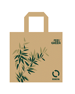 reusable bags 'feel green' 80 gsm 45+20x40 cm spunbond (50 unit)