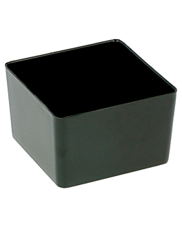 vasetto a cubo piccolo 35 ml 4,2x4,2x2,7 cm nero ps (576 unitÀ)