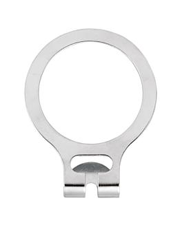 rondelles cintre anti vol Ø 4,8 cm argente metal (50 unitÉ)