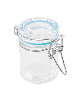 barattolo chiusura clip + carta vichy 45 ml Ø 4,5x6 cm trasparente cristal (96 unitÀ)