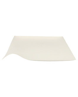 platos kaku xl 'bionic' 24,6x4 cm blanco bagazo (100 unid.)