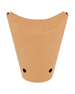chips cup closed 16oz - 480 ml 200 + 25pe g/m2 8,5x14 cm brown cardboard (50 unit)