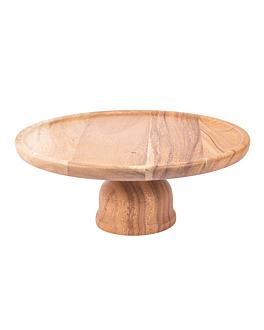 base para cÚpula 181.52 Ø 33x13 cm natural madera (1 unid.)