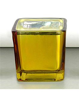 bougie dans verre 5,1x5,1 cm or paraffine (12 unitÉ)