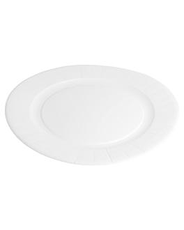 round bio-lacquered plates 352 gsm Ø 29 cm white cardboard (240 unit)