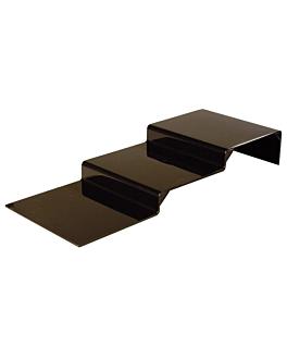 stand echÉlonnÉ buffet 30x75,5x11 cm noir acrylique (1 unitÉ)