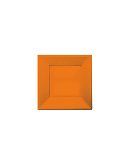 25 u. pratos quadrados 18x18 cm toranja ps (20 unidade)