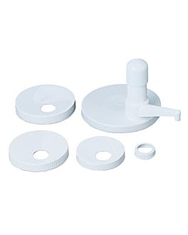 pompe produits visqueux - kit 5 couvercles 34,5 cm blanc plastique (1 unitÉ)