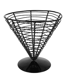 cestino a cono Ø 18x17,5 cm nero acciaio (1 unitÀ)