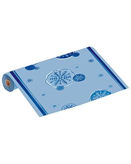 "tovaglia rotolo ""neve"" 60 g/m2 1,18x40 m blu airlaid (1 unitÀ)"