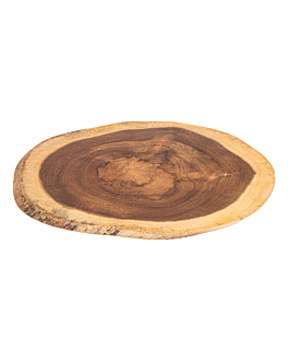 oval presentation tray 40,6x20,3x1,9 cm natural wood (6 unit)