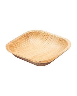 platos cuadrados 'areca' 10x10x2,5 cm natural areca (200 unid.)