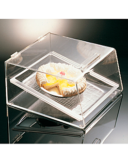 cake display 1 level 39x35x21 cm clear acrylic (1 unit)