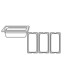 gastronorm pan 1/3 4,9 l 32,5x17,5x15 cm silver stainless steel (1 unit)