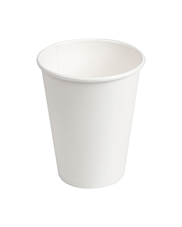 single wall hot drink cups 360 ml 300 + 18 pe gsm Ø9/6x11 cm white cardboard (900 unit)