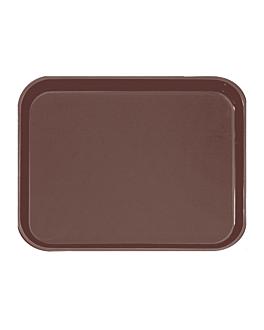 rectangular non-slip tray 51x38 cm brown pp (1 unit)