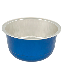 recipient patisserie 150 ml Ø 8,5x4,3 cm bleu aluminium (100 unitÉ)