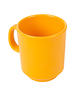 tasses À cafÉ 240 ml Ø 8x9 cm jaune melanine (12 unitÉ)