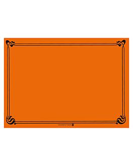 mantelines 48 g/m2 31x43 cm naranja celulosa (2000 unid.)