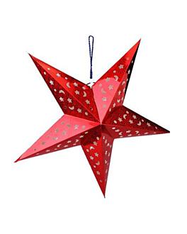 estrellas colgantes Ø 90 cm rojo papel (10 unid.)
