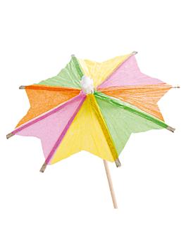 "ice cream decorations ""parasol"" Ø 8x10 cm assorted wood (144 unit)"