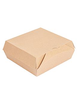 "cajas ""lunch box"" paperlock 'thepack' 220 g/m2 21x20,5x8 cm natural cartÓn ondulado nano-micro (300 unid.)"