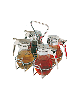 rack 4 jarras 117.31 17x17x20 cm plateado acero (1 unid.)