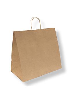 sacos sos catering com asas 90 g/m2 36+21x33,5 cm natural kraft (250 unidade)