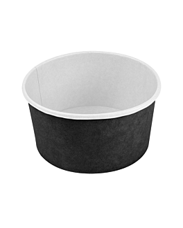 salad bowls 1000 ml 18pe + 340 + 18 pe gsm Ø15/12,9x8 cm black cardboard (300 unit)