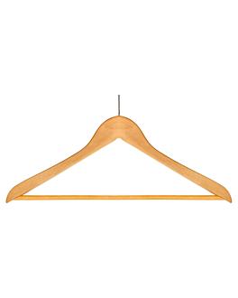 antitheft hangers 44,5x1,2x20,5 cm natural wood (48 unit)