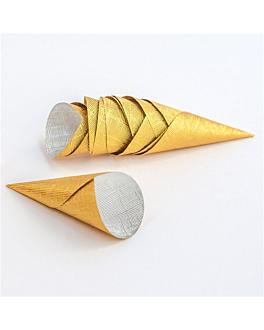 coni 'petits fours' 5,8x2,2 cm oro alluminio (3500 unitÀ)