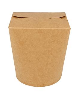 noodle boxes 960 ml 275 + 25 pe gsm Ø9x10,8 cm natural kraft (50 unit)
