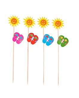 """dÉcorations glaces """"tournesols"""" 20 (h) cm assorti bois (100 unitÉ)"""