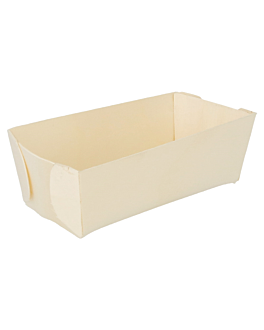 rectangular containers 12x6,2x4 cm natural wood (500 unit)