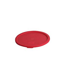 couvercle pour rÉfÉrence 164.81 Ø 22,9 cm rouge pe (1 unitÉ)