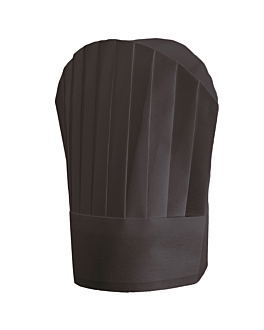 "continental chef's hats ""round top"" 30 cm black airlaid (10 unit)"