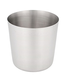classic mini tubs for fries, smooth Ø 8,5x8,5 cm silver stainless steel (12 unit)