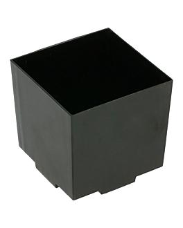 cubos apilables para aperitivos 65 ml 4,2x4,2x4,2 cm negro ps (200 unid.)