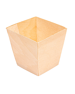 pine bark mini container 4,5x4,5x4,5 cm natural wood (2000 unit)