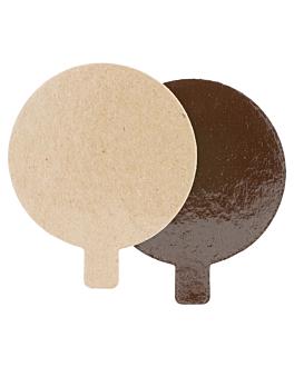 cartone pasticceria doppia faccia 1100 g/m2 Ø 8 cm cioccolato/pralina cartone (200 unitÀ)